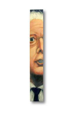 "Contender- Bernie Sanders:   3.5 x 24 x 1""  acrylic on wood"