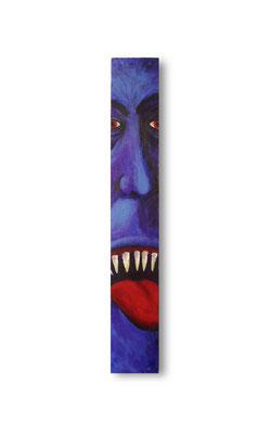 """The Blue Meanie:  3.5 x 24 x 1""""  acrylic on wood"""