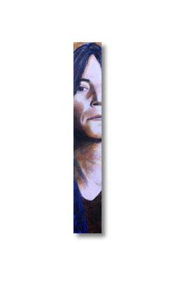 "Patti Smith:   3.5 x 24 x 1""  acrylic on wood"