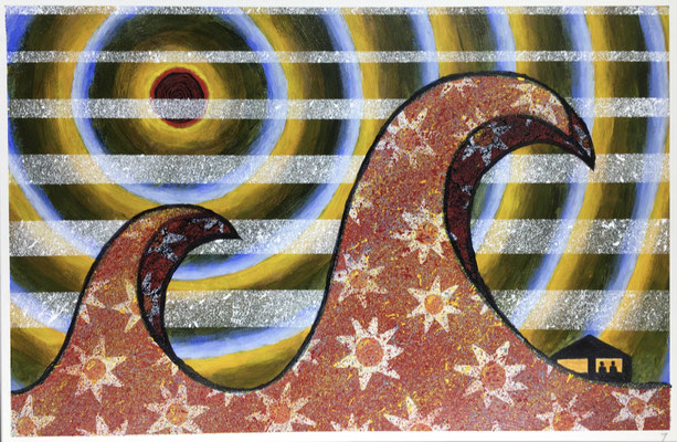 "COVID #7  (12x18"" / acrylic on paper)"