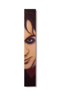 "The Madcap:  3.5 x 24 x 1""  acrylic on wood"