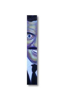 "Gomez:   3.5 x 24 x 1""  acrylic on wood"