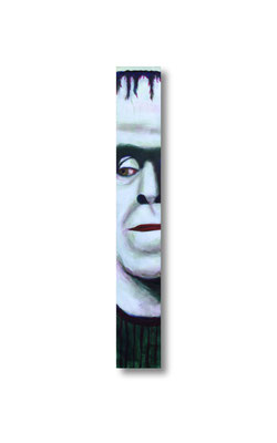 "Herman Munster:   3.5 x 24 x 1""  acrylic on wood"