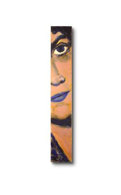 """Gigolo:  3.5 x 24 x 1""""  acrylic on wood"""