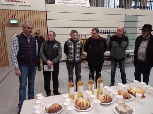 Le pot de l'amitié offert par le CFAC au exposants français et allemands présents