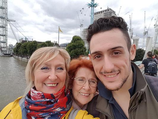 con la figlia ed il nipote