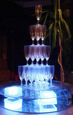 MARIAGE DANET TRAITEUR- Fontaine de champagne lumineuse