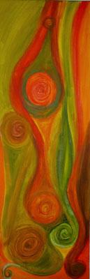 Acrylfarbe auf Leinwand  Masse:30x90cm