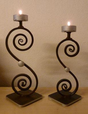 Kerzenständer klein H:25cm/gross H:29cm