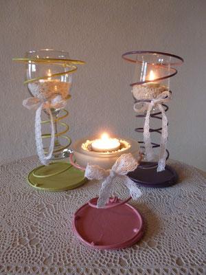Kerzenständer klein H:ca.13cm/ gross H:ca23cm