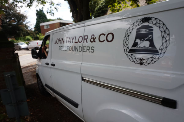 And the Taylor's van goes back to Loughborough. We'll see them again in another 300 years!