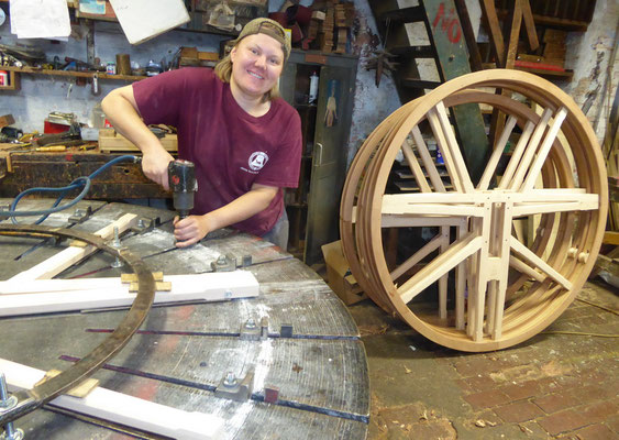 Bell wheels are made.