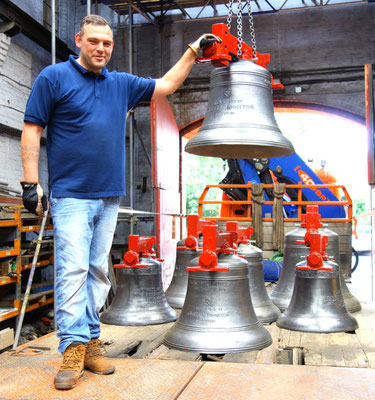 The bells are ready to go back to Castle Bromwich.
