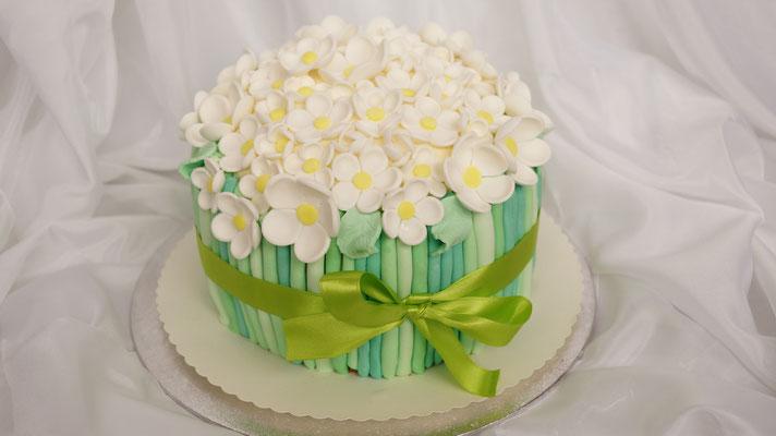 Anemonen Strauß - Torte