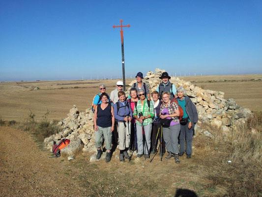 Die Pilgergruppe in der Meseta