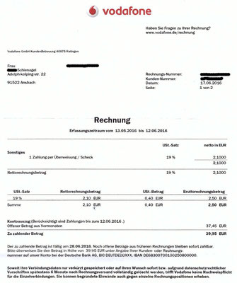 Schon dreist für die gleiche Forderung 2 mal Gebühren für eine Überweisung berechnen wollen ...