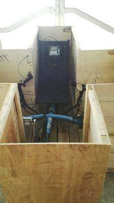 IR: Mashhad,Trike in Box zum AirCargo-Transport (Photo:Shahab)