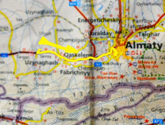Tag 214: Samsi - Almaty