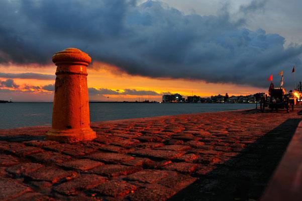 GR: Solatrike in Chios am Hafen