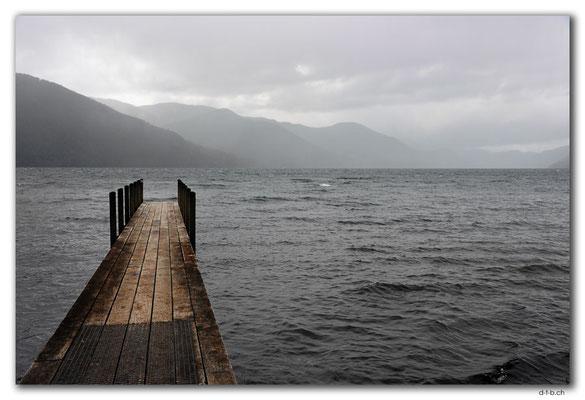 NZ0674.Nelson Lakes N.P.Jetty at Lake Rotoroa