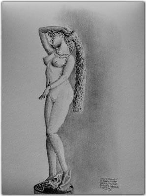 164.Skizze.Tashkent.Fine Arts Museum.Marble Statue of an Italian Master.Uzbekistan