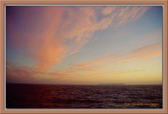 139.Tafeleisberg im Abendrot,Südatlantik