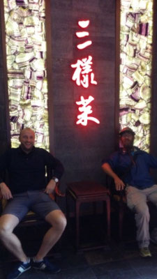 CN: Sebastian & David in a Restaurant, Beijing (Photo: Nathan)