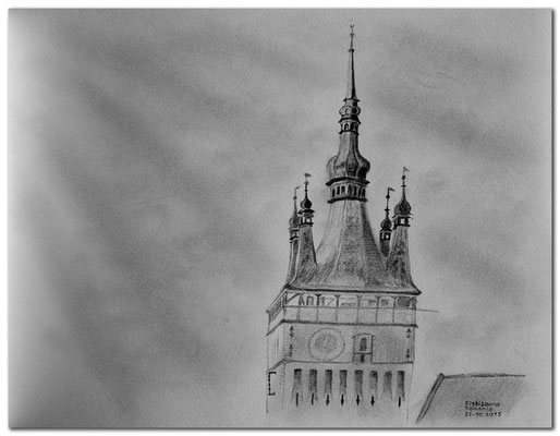 145.Skizze.Sighisoara.Rumänien