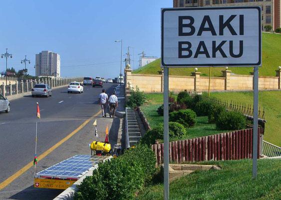 AZ: Solatrike in Baku angekommen