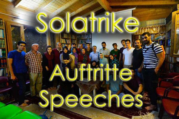 Auflistung und Beschreibung der Auftritte / List and description about the speeches