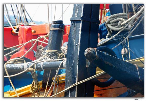 NZ0460.Wellington.Hafen.Dreimaster vom 18Jh