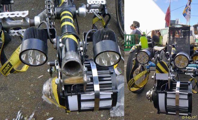 NZ: Solatrike neuer Vordermotor und Lichter montiert