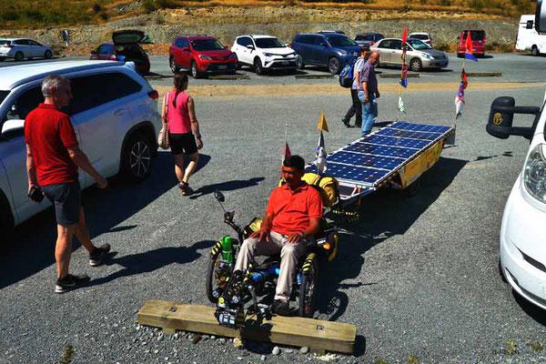 NZ: Solatrike wird ausprobiert am Lake Pukaki
