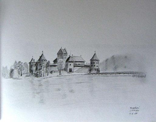 076.Skizze, Trakai /Litauen