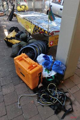 AU: Solatrike Gepäck einladen