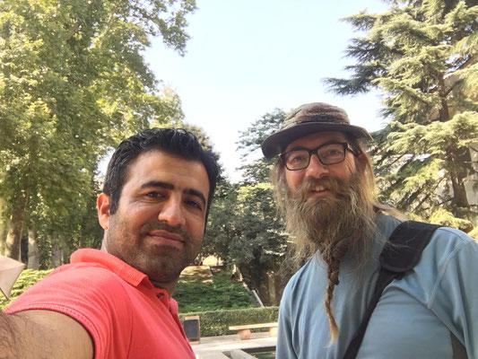 IR: Teheran, Niavaran Palace mit Milad (Photo: Milad)