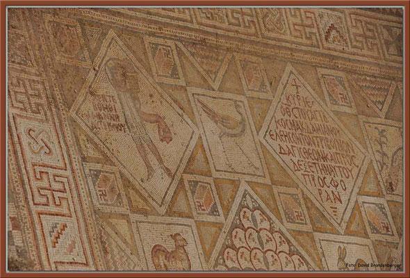 JO070.Mosaike Drei Kirchenkomplex.Jerash