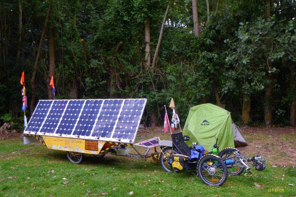 NZ: Solatrike in Fairlie Camping