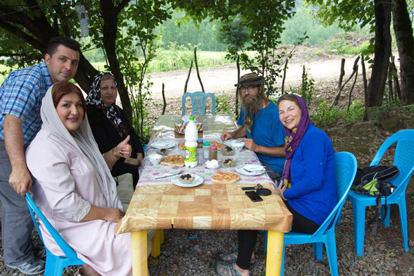 Azadeh, Arash, Verena und David