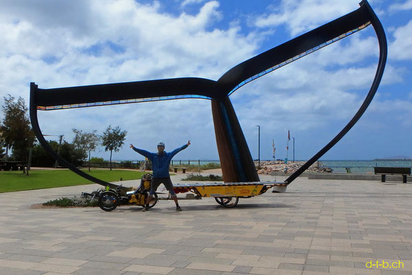 AU: Esperance.Solatrike and Whale tail sculpture