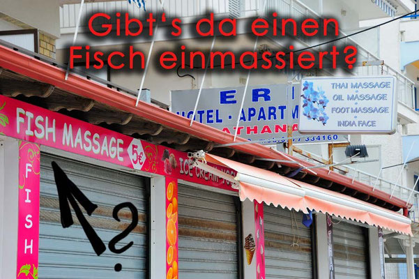 Griechenland. Fischmassage