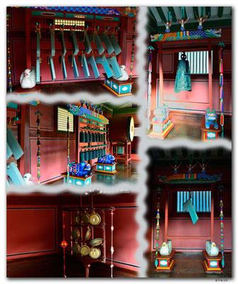 KR0098.Suwon.Hwaseong Haenggung Palace.Traditionelle Instrumente
