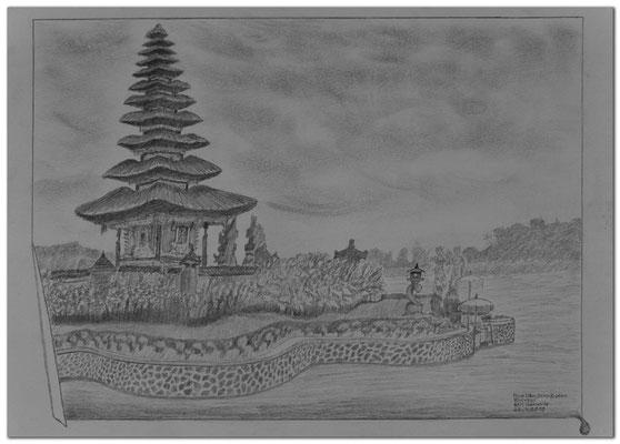 207.Skizze.Pura Ulun Danu Bratan.Bedugul.Bali.Indonesia