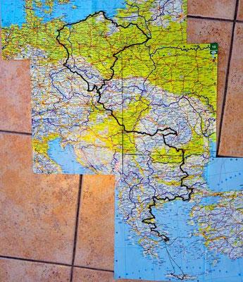 Reisestrecke bis Chios