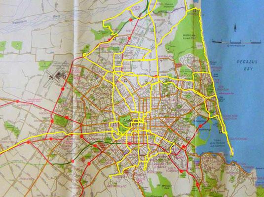 Karte: Christchurch Ausflüge