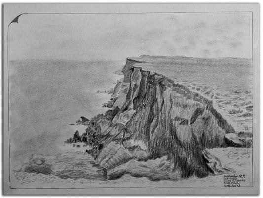 199.Skizze.Nullarbor N.P. Coastline.SA.Australia