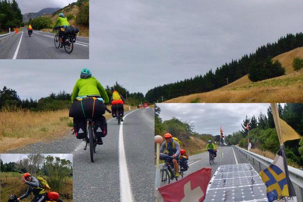 NZ: Solatrike trifft ein paar deutsche Radler auf ihrer ersten Tour
