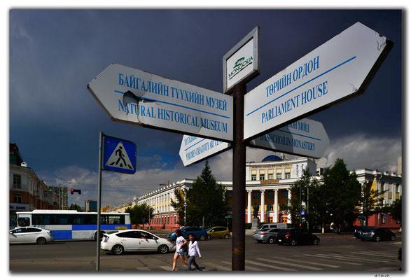 Mongolei.Ulaan Bator.Wegweiser