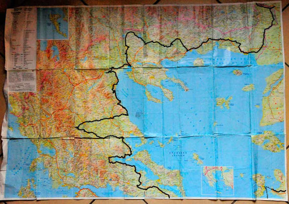 Reisestrecke Griechenland Nord