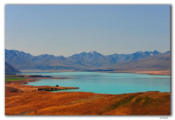 NZ0800.Lake Tekapo.View from Mt.John